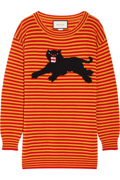 Gucci - Intarsia Wool Sweater - Orange