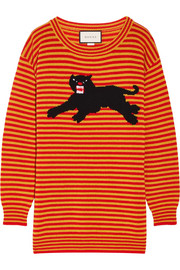 Intarsia wool sweater