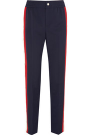 Gucci Striped wool-blend crepe track pants
