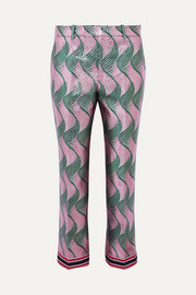 Gucci Silk-blend jacquard straight-leg pants