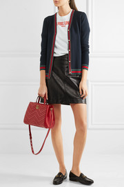 Gucci Metallic-trimmed merino wool cardigan