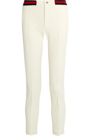 Gucci Cropped twill slim-leg pants
