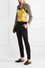 Gucci Stretch wool and silk-blend straight-leg pants