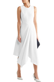 Cutout asymmetric stretch-cady dress