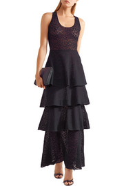 Stella McCartney Tiered lace maxi dress