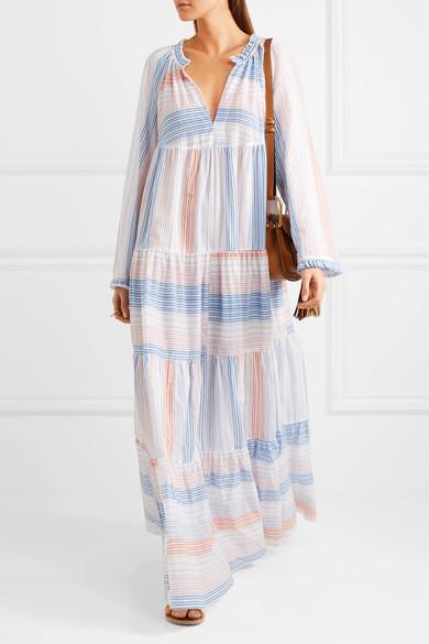0acf153d58 Stella McCartney | Tiered striped cotton-blend maxi dress | NET-A ...