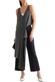 Stella McCartney Cropped stretch-wool piqué flared pants