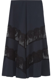Stella McCartney Lace-paneled silk maxi skirt