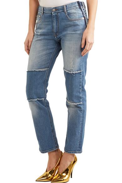 Stella McCartney | Patchwork boyfriend jeans | NET-A-PORTER.COM