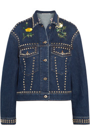 Stella McCartney Oversized embellished denim jacket