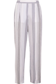 Stella McCartney Striped cotton-blend wide-leg pants