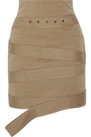Monse Cotton-canvas mini skirt