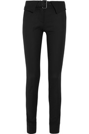 Stretch wool-blend twill skinny pants