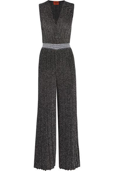 Missoni - Metallic Knitted Jumpsuit - Silver