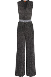 Metallic knitted jumpsuit