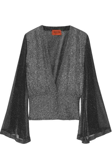Missoni - Metallic Knitted Cardigan - Silver