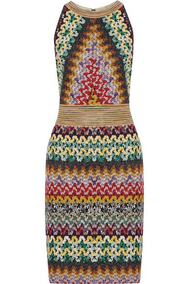Missoni - Metallic Crochet-knit Dress - Green