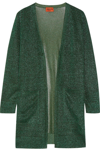 Missoni - Metallic Crochet-knit Cardigan - Green