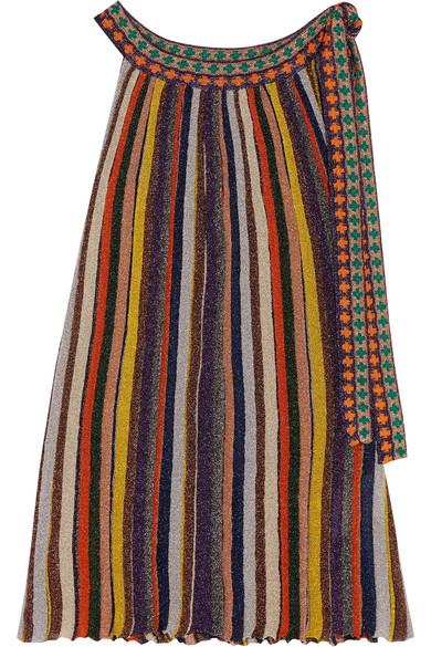 Missoni - Striped Metallic Crochet-knit Halterneck Top - Yellow
