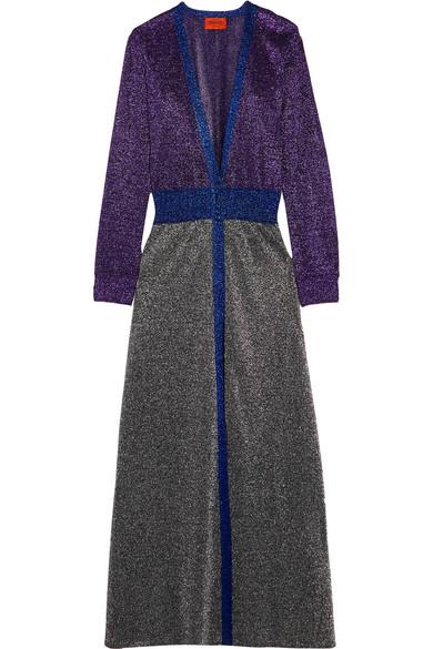 Missoni - Metallic Knitted Cardigan - Purple