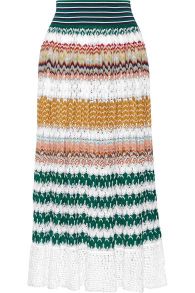 Missoni - Crochet-knit Midi Skirt - Saffron