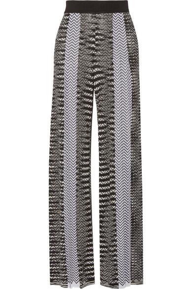 Missoni - Crochet-knit Wide-leg Pants - Black