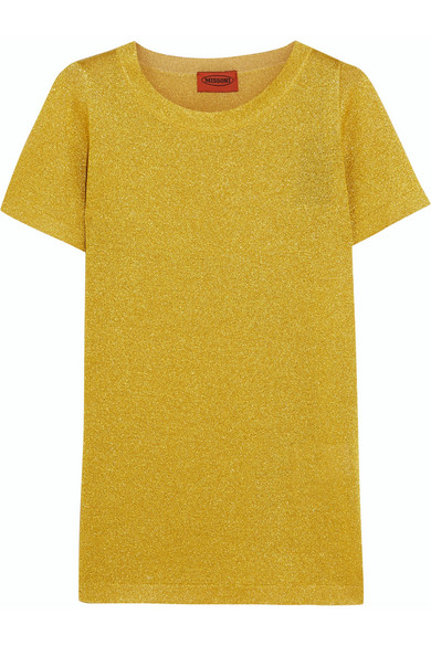 Missoni - Metallic Knitted Top - Yellow