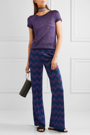 Missoni Metallic knitted flared pants