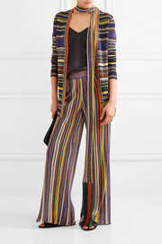 Missoni Striped metallic stretch-knit cardigan