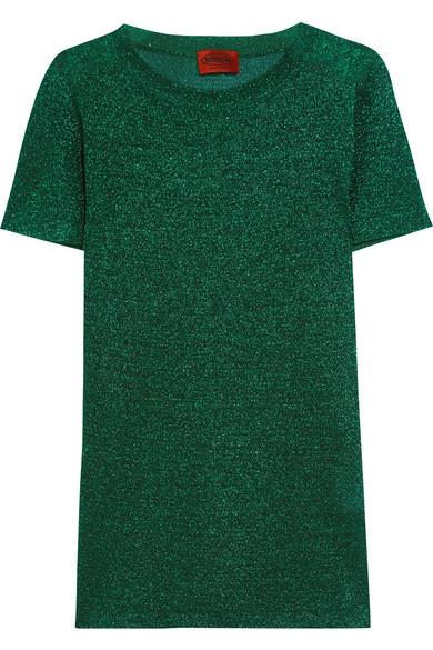 Missoni - Metallic Crochet-knit Top - Green