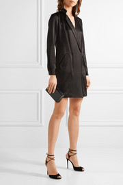 Halston Heritage Wrap-effect satin-crepe mini dress