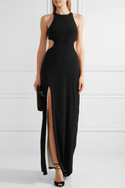 Halston Heritage Cutout stretch-crepe gown
