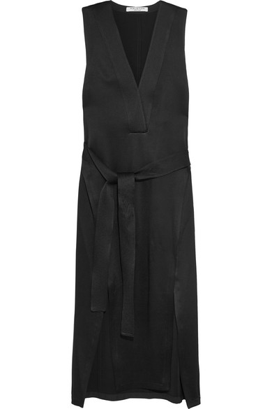Halston Heritage - Satin Dress - Black