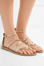 K Jacques St Tropez Epicure metallic-leather sandals