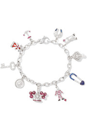 Fred Leighton 20th Century 14-karat white gold multi-stone charm bracelet