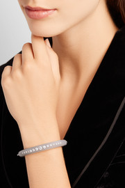 Fred Leighton Collection 18-karat white gold, chalcedony and diamond bangle