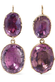 1840s 9-karat gold amethyst earrings