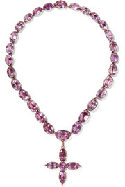 1840s 9-karat gold amethyst necklace