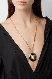 Fred Leighton Collection 9-karat rose gold multi-stone necklace