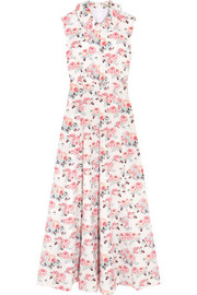 Emilia Wickstead Fabiola floral-print cloqué midi dress
