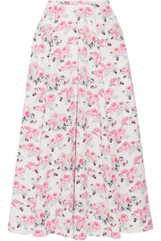 Emilia Wickstead Eleanor floral-print cloqué midi skirt