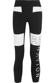 P.E Nation Roll Out two-tone stretch-jersey leggings