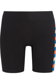 Joust striped stretch-jersey shorts