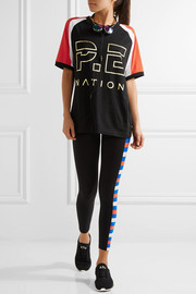 One-Time color-block cotton-jersey T-shirt