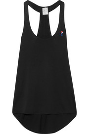 P.E Nation Short Stop embroidered cotton-jersey tank
