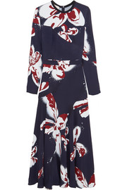 Cédric Charlier Printed crepe maxi dress