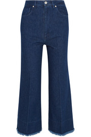 Cédric Charlier Two-tone high-rise wide-leg jeans