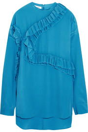 Cédric Charlier Ruffled georgette top