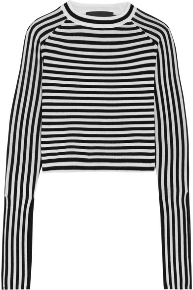 Paper London - Gill Striped Wool Sweater - Black