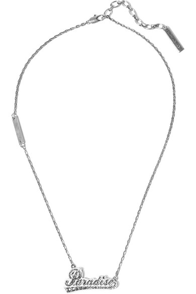 marc jacobs female marc jacobs paradise silvertone crystal necklace one size